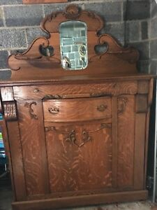 Murphy Bed Antique Oak Vintage Pull Out Wall Bed Full Size