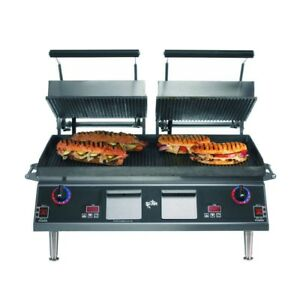 Star Cg28iea 28 Grooved Pro max Sandwich Panini Grill W Timer 220v New In Crate