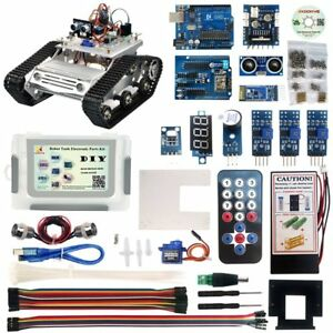 Kookye Robot Car Electronics Parts Kit With Cd Tutorial For Tank Chassis Arduino