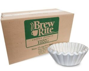 Bunn Coffee Filters 8 12 Cup Basket Brew Rite 1000 Count Commercial White Brewer