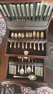 International Sterling Blossom Time 72 Pc Flatware Set 3183 Grams Service For 12