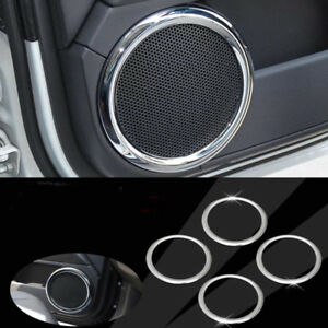 Chrome Door Stereo Speaker Cover Trim Bezel Fit For Jeep Patriot Compass 07 15