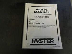 Hyster Challenger H50xm Forklift Parts Manual