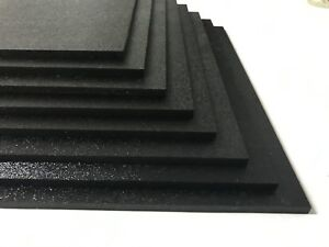 Abs Black Plastic Sheet 1 4 X 12 X 12 Textured 1 Side Vacuum Forming Pack 8