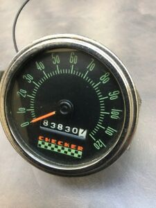 Old Checker Cab 120 Mph Speedometer Vintage Dash Stewart Warner Rat Rod Scta