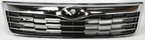 Grille Chrome W Gray Front For 2009 2010 Subaru Forester Su1200141