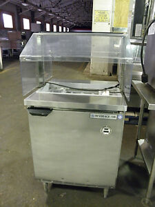 Beverage Air Spe27 Refrigerated Condiment Station Peppers Oilves W Sneeze Guard