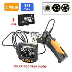 Video Inspection Camera 3m 3 9mm Borescope Endoscope 360 Rotate Flip 3 5 W 8gb
