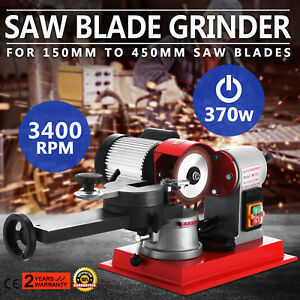 370w Saw Blade Grinder Sharpener Machine Steel Chassis Grinding Wood Alloy