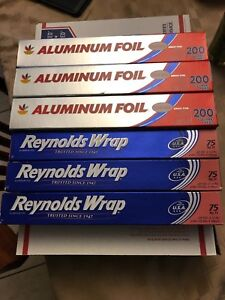 Lot Of 6 Roll Aluminum Foil 12 In Wide X 200 And 75 Sq Feet 825 Sf Total