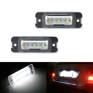 White Can bus Led License Plate Lights For Mercedes Ml Gl R Class W164 X164 W251