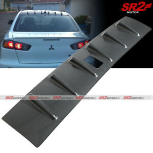Rear Roof Shark Fin Carbon Look Vortex Spoiler Wing Fits 08 16 Mitsubishi Lancer