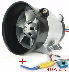 Airplane Car Electric Supercharger Turbos Intake Fan Boost 12v 16 5a 380w Esc40a