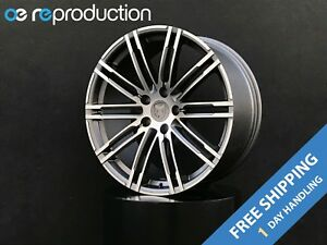 20x9 Inch Wheels Rims 5x112 26 Gunmetal Machined For Porsche Macan S Turbo Gts