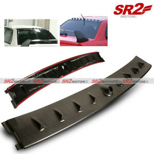 Vortex Shark Fin Roof Spoiler Wing Carbon Looks Fits 02 07 Mitsubishi Evo 7 8 9