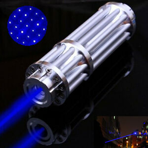 Blue Laser Pointer Point Pen 450nm Match Burning Beam Light Lazer 5mw Star Cap