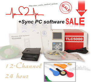 Fda ce Dynamic Ecg Recorder 12 channel Holter Monitor Analyzer Sync Pc Software