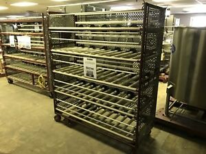 5 tier Jar Mill Roller Rack 62 w X 24 deep X 78 h