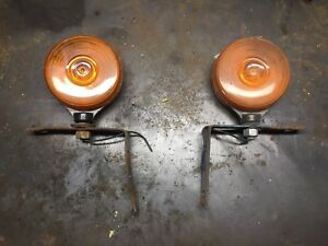 Used Ford Tractor Amber Fender Lights Warning Flasher