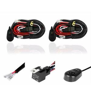 2pcs Universal 12v 40a Offroad Fuse Relay Switch Wiring Kit For Led Light Bar