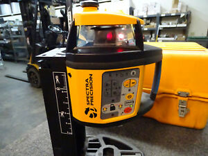 Spectra Precision Rotary Laser Level Model 1485 Hp W Hard Case