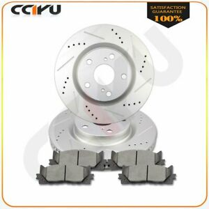For Toyota Camry 2007 2017 Front Drill Slot Brake Rotors And Ceramic Pads