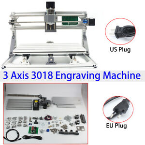 3 Axis Mini Cnc Router Milling Engraving Machine Printer 3018 Grbl Control Ups