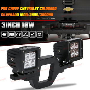 For Chevy Silverado Colorado Trailer Tow Hitch Bracket backup Reverse Led Lights