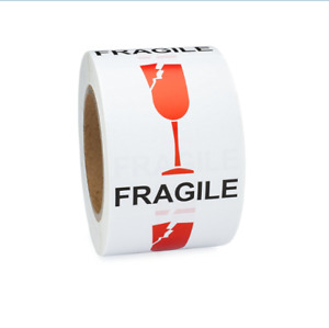 500 Broken Wine Glass Fragile Stickers 3 X 4 Handle With Care Shipping Labels