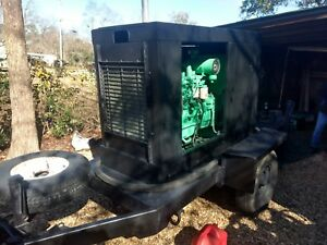 60 Kw Mobile Onan Generator Only 711 Hours On 100 Gallon Fuel Trailer 60kw