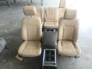 2011 2016 Ford F250 F350 Superdut Front Rear Seat Set Tan Leather Heated Cooled