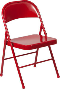 Lot Of 20 Hercules Series Double Braced Red Metal Folding Chair