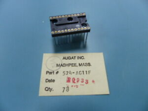 Augat 524 ag11f Qty Of 16 Per Lot 24 Pin Machine Ic Socket Wire Wrap Augat 92