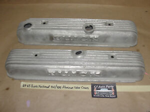 Oem 64 65 Buick 401 425 Nailhead Engine Original Aluminum Valve Covers Finned