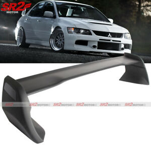 Abs Black Rear Trunk Spoiler High Wing Fits 02 07 Mitsubishi Lancer Evo 7 8 9