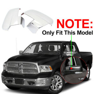For 2013 2018 Dodge Ram 1500 2500 Chrome Mirror Covers W Turn Signal Cut Outs