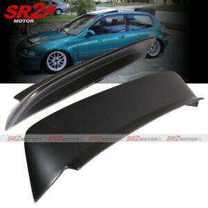 Duckbill Rear Abs Roof Spoiler Wing Lip Black Fits For 92 95 Civic Hatchback Eg