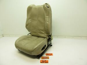 Driver Left Front Power Seat Bucket Track Motor Lf Lh Base Bottom Top Upper Tan
