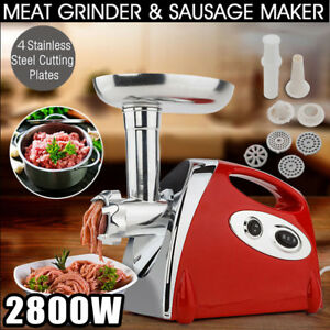 Commercial Electric Meat Grinder Sausage Stuffer 2800w Powerful Industrial Home