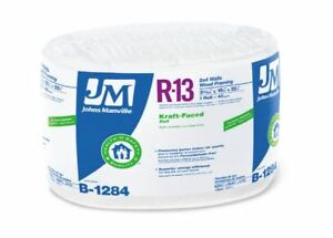 Johns Manville 90013166 Kraft faced R 13 Fiberglass Insulation Roll 15 X 32