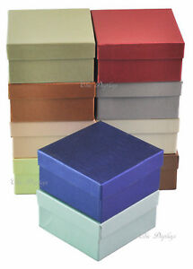 Lot Of 100 Embossed Fiber Cotton Filled Boxes Jewelry Box Bangle Box 3 3 4x2