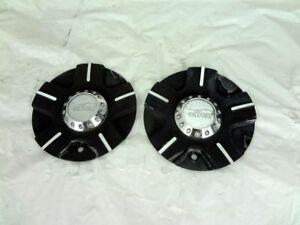 Pair 2 Effen Wheels Rim Center Cap C149 5 Black chrome 6 7 8 Used