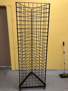 Grid Wall Triangle Panel Black 2x6 Feet Used But Great Condition