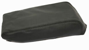 Fits 09 14 Nissan Maxima Black Real Leather Center Console Lid Armrest Cover