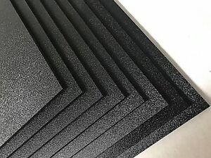 Abs Black Plastic Sheet 1 8 X 24 X 48 Textured 1 Side Vacuum Forming Pack 8