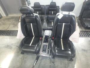2010 2014 Ford Mustang Black Leather Front Rear Seats W Console Power Driver