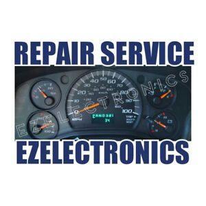 2002 To 2007 Chevrolet Express Van 1500 2500 Instrument Cluster Repair Service