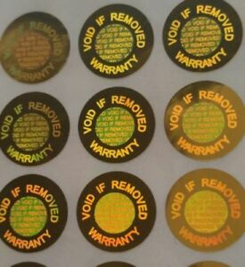 Hologram label sticker warranty void if removed tamper proof stickers