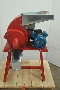 Hammer Mill Feed Grinder 3hp 220v 1ph Electric Powered Usa In stock W support