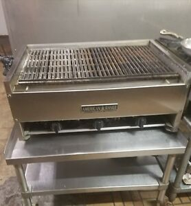American Range Gas Char grill Table stand